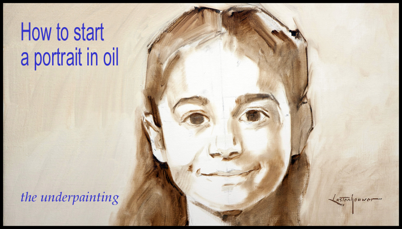 Learn how to start a portrait in oil for How to start oil painting
