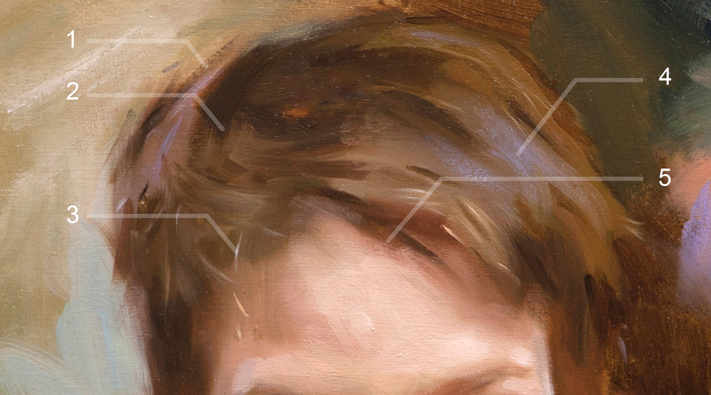 How To Paint Hair Art