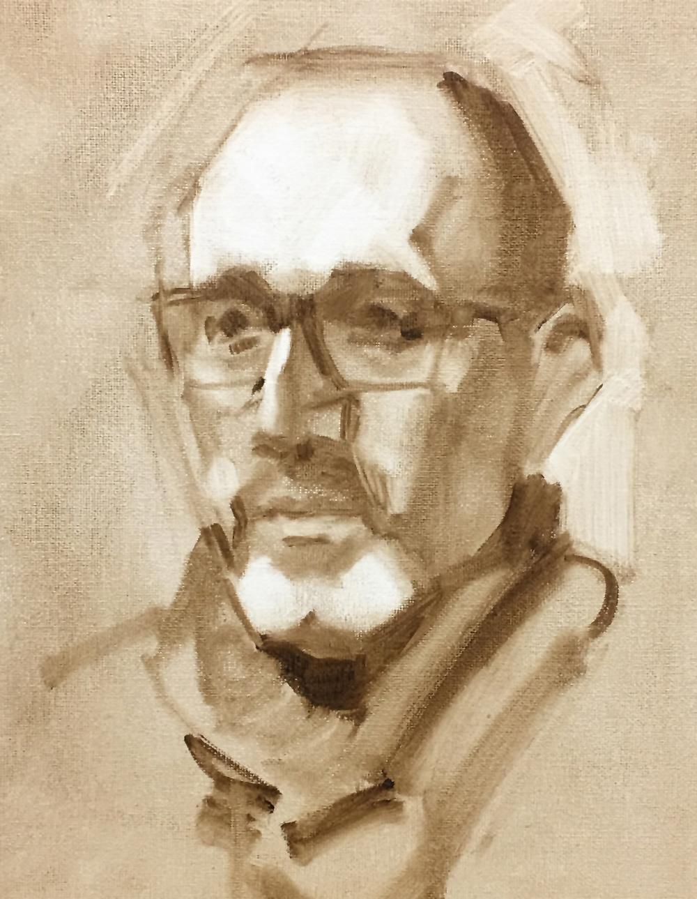 Comment commencer un portrait à l'huile. Explication de Ben Lustenhouwer, portraitiste néerlandais.v
